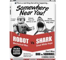 Robot vs. Shark iPad Case/Skin