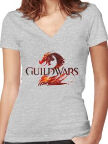 Guild Wars Women's Fitted V-Neck T-Shirt