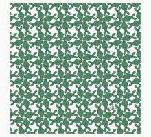 Tessellation Pattern Green Rhombuses Kids Tee
