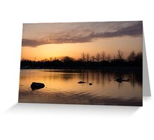 Gloaming - Subtle Pink, Lavender and Orange at the Lake Greeting Card