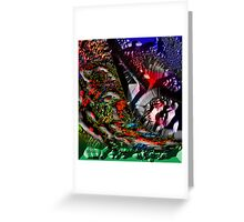 MICROSCOPIC VIEW of DNA Greeting Card