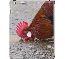 roosters in the farm iPad Case/Skin