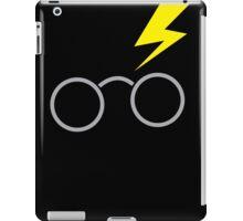 Nerdy boy glasses with lightning strike iPad Case/Skin