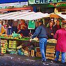 Street Stall Mont Matre by Frank  McDonald