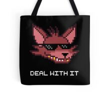 Five Nights at Freddy's Foxy - Deal With It (White Font) Tote Bag