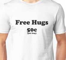 free hugs white/colour Unisex T-Shirt