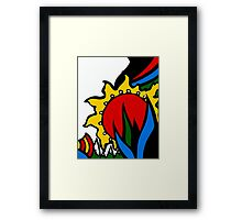 The Red Sun of the Dawn Framed Print