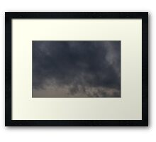 HDR Composite - The Best of Moving Gray Clouds Framed Print