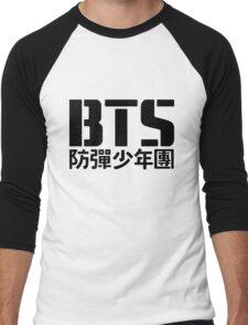 BTS Bangtan Boys Logo/Text Men's Baseball ¾ T-Shirt