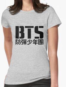 BTS Bangtan Boys Logo/Text Womens Fitted T-Shirt