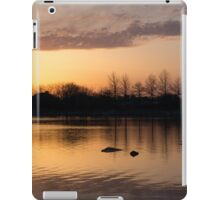 Gloaming - Subtle Pink, Lavender and Orange at the Lake iPad Case/Skin