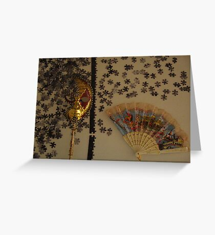 Mask Puzzle Greeting Card