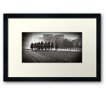 Backlit Horsemen Framed Print