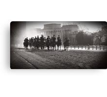 Backlit Horsemen Canvas Print