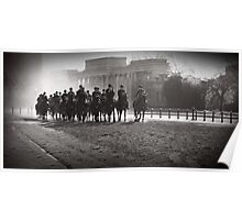 Backlit Horsemen Poster