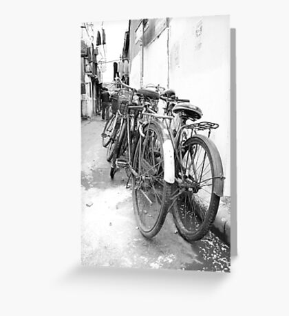 Shanghai Bicycles Greeting Card