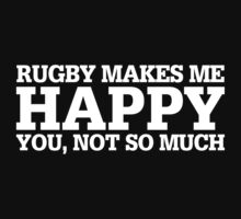 Happy Rugby T-shirt by musthavetshirts