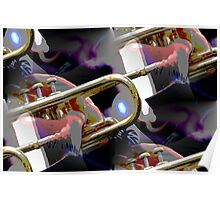 abstract old trumpet Poster