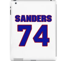 National football player Gene Sanders jersey 74 iPad Case/Skin