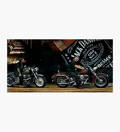 JD and Harley - Made for Each Other Photographic Print