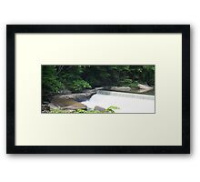 HDR Composite - Washing Machine Below the Dam Framed Print