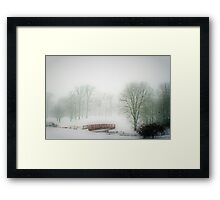 Snow Bridge Framed Print