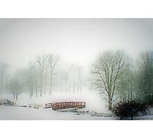 Snow Bridge Photographic Print