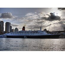 QE II - Leaving Sydney Harbour Photographic Print