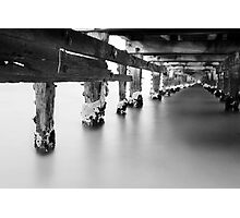 A light at the end of the pier Photographic Print