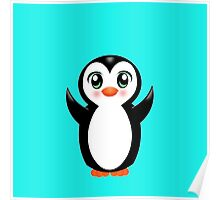 Cute Baby Penguin Poster