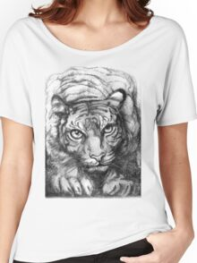 Tiger - greyscale (full T) Women's Relaxed Fit T-Shirt