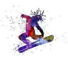young snowboarder Photographic Print
