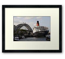 QE II - Leaving Sydney Harbour II Framed Print