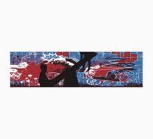 Berlin Wall Graffiti Graphic One Piece - Short Sleeve