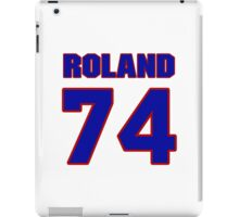 National football player Dennis Roland jersey 74 iPad Case/Skin