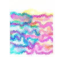 PASTEL FLAMES Photographic Print