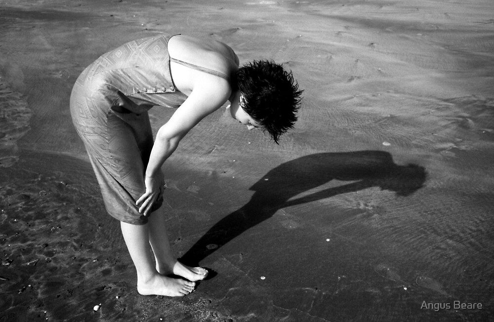 girl on the sand by Angus Beare