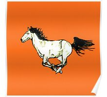 Horse Galloping Red Poster