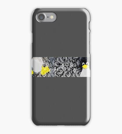 Penguin Linux Tux art graphic iPhone Case/Skin