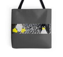 Penguin Linux Tux art graphic Tote Bag