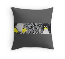 Penguin Linux Tux art graphic Throw Pillow