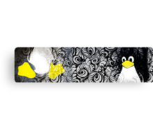 Penguin Linux Tux art graphic Canvas Print