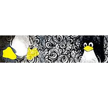 Penguin Linux Tux art graphic Photographic Print