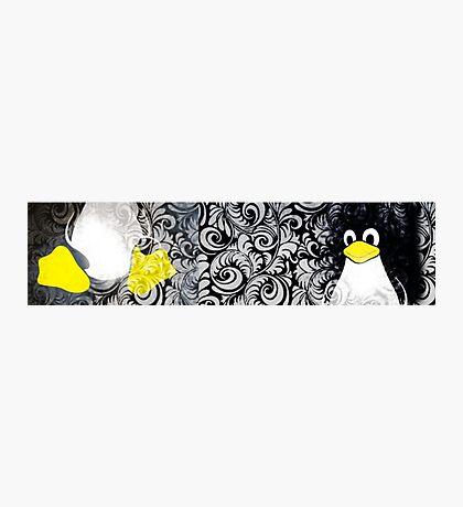 Penguin Linux Tux art graphic Photographic Print