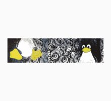 Penguin Linux Tux art graphic Kids Tee