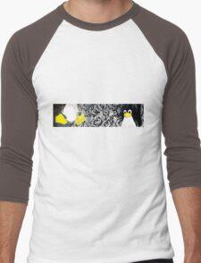 Penguin Linux Tux art graphic Men's Baseball ¾ T-Shirt