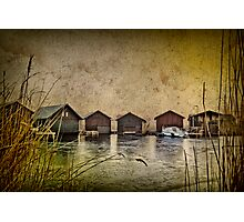Huts at the lake Photographic Print