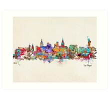 Las Vegas Nevada skyline Art Print