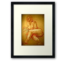 portrait of a nude Framed Print