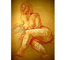 portrait of a nude Photographic Print